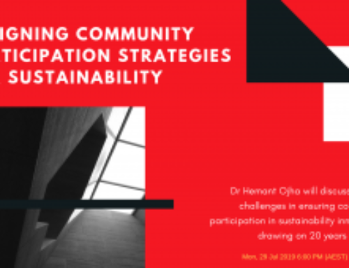 Designing Community Participation Strategies for Sustainability